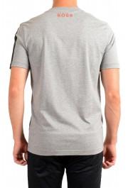"Hugo Boss Men's ""Tiburt 230"" Gray Graphic Print Crewneck T-Shirt: Picture 3"