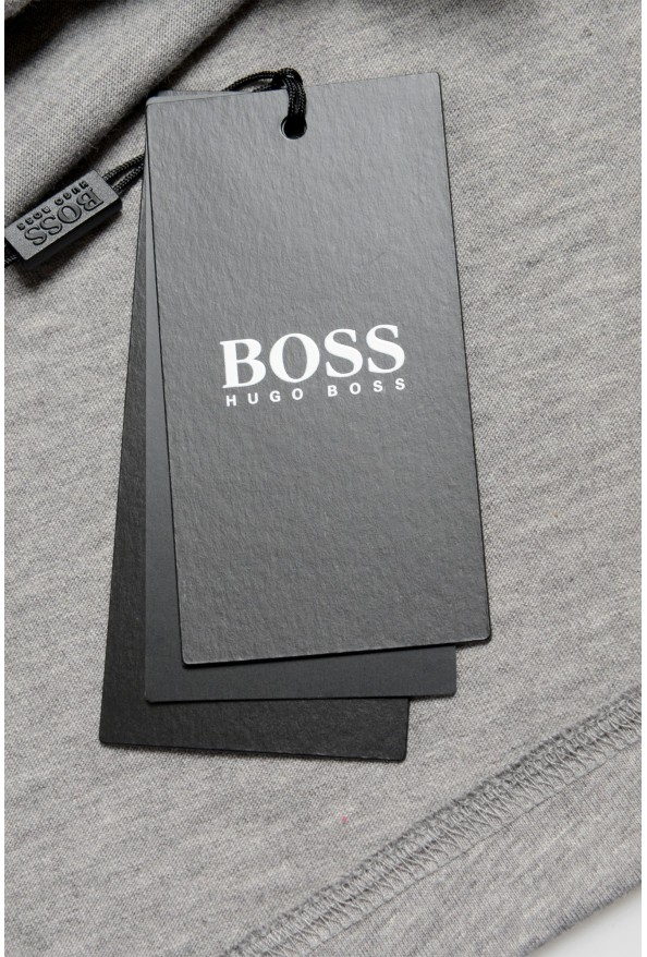 "Hugo Boss Men's ""Tiburt 230"" Gray Graphic Print Crewneck T-Shirt: Picture 6"