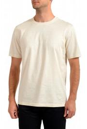 "Hugo Boss Men's ""Tseed"" Beige Striped Crewneck T-Shirt"