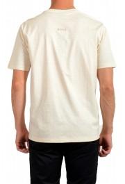 "Hugo Boss Men's ""Tseed"" Beige Striped Crewneck T-Shirt: Picture 3"