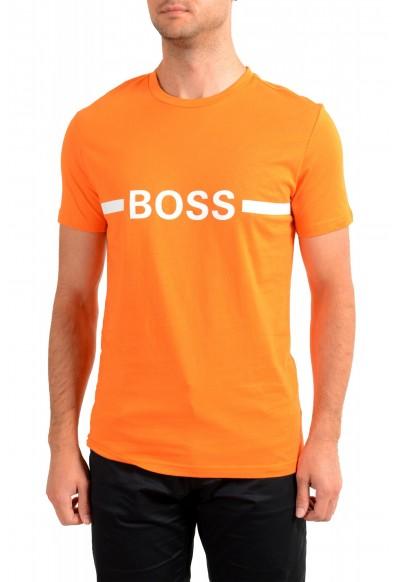 "Hugo Boss Men's ""T-Shirt RN Slim Fit"" Orange Crewneck T-Shirt"