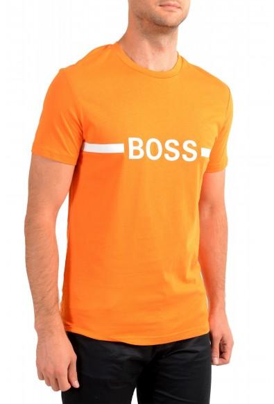 "Hugo Boss Men's ""T-Shirt RN Slim Fit"" Orange Crewneck T-Shirt : Picture 2"