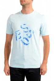 Hugo Boss Men's Tiburt 244 Light Blue Graphic Print Crewneck T-Shirt