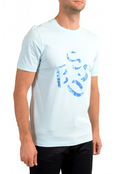 Hugo Boss Men's Tiburt 244 Light Blue Graphic Print Crewneck T-Shirt: Picture 2