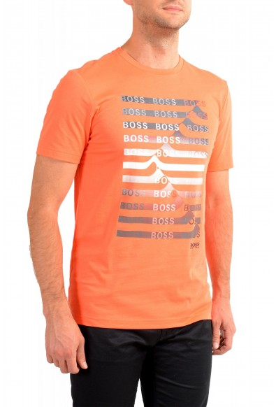 "Hugo Boss Men's ""Teeonic"" Orange Graphic Print Crewneck T-Shirt: Picture 2"