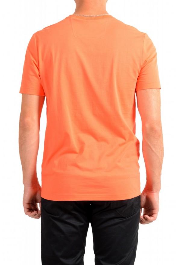 "Hugo Boss Men's ""Teeonic"" Orange Graphic Print Crewneck T-Shirt: Picture 3"