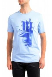 "Hugo Boss Men's ""Terand"" Blue Graphic Print Crewneck T-Shirt"