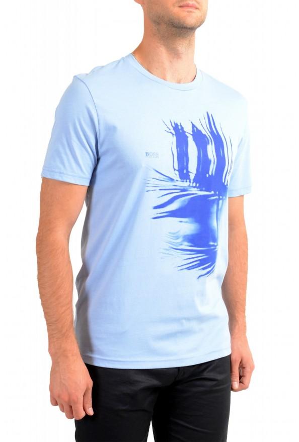 "Hugo Boss Men's ""Terand"" Blue Graphic Print Crewneck T-Shirt : Picture 2"