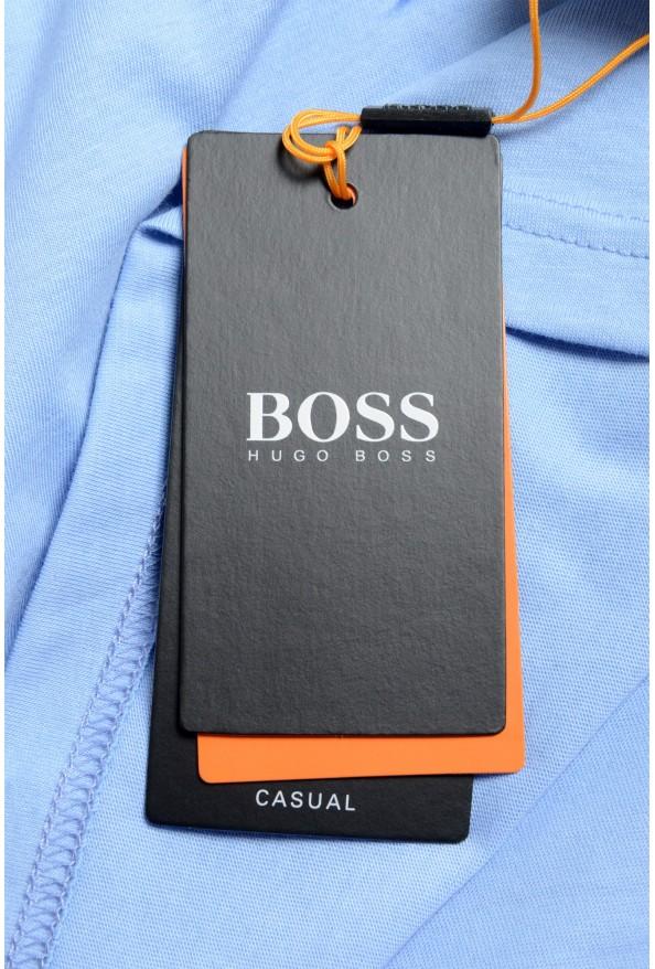 "Hugo Boss Men's ""Terand"" Blue Graphic Print Crewneck T-Shirt : Picture 6"