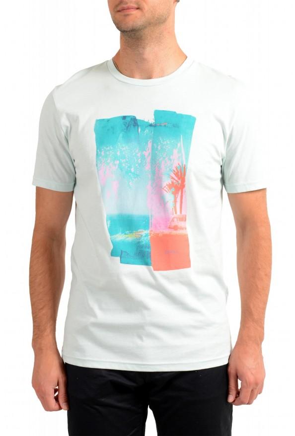 "Hugo Boss Men's ""Tepastel"" Multi-Color Graphic Print Crewneck T-Shirt"