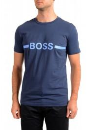 "Hugo Boss Men's ""T-Shirt RN Slim Fit"" Blue Crewneck T-Shirt"