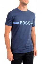 "Hugo Boss Men's ""T-Shirt RN Slim Fit"" Blue Crewneck T-Shirt: Picture 2"