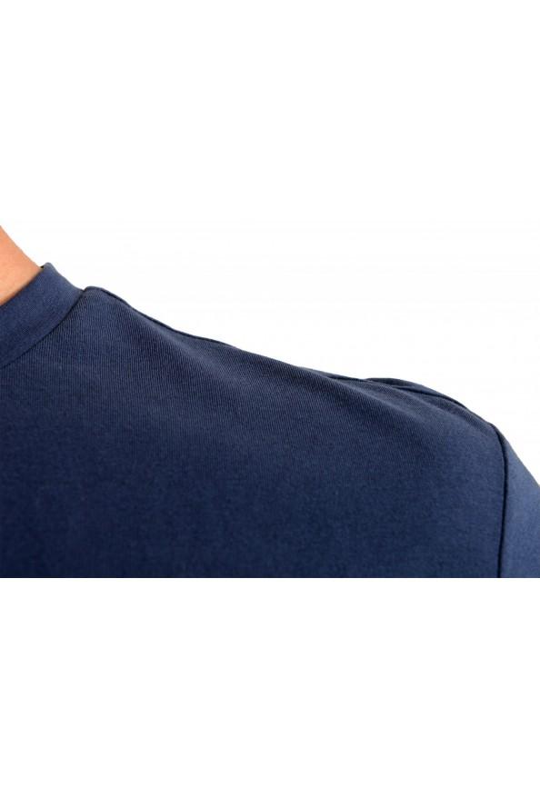 "Hugo Boss Men's ""T-Shirt RN Slim Fit"" Blue Crewneck T-Shirt: Picture 4"