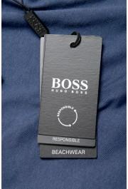 "Hugo Boss Men's ""T-Shirt RN Slim Fit"" Blue Crewneck T-Shirt: Picture 6"