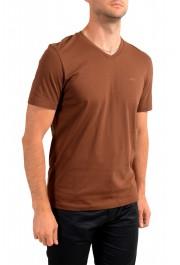 "Hugo Boss Men's ""Canistro 80"" Brown V-Neck T-Shirt: Picture 2"