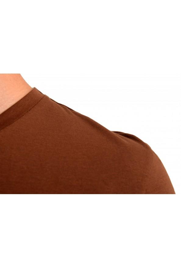 "Hugo Boss Men's ""Canistro 80"" Brown V-Neck T-Shirt: Picture 4"