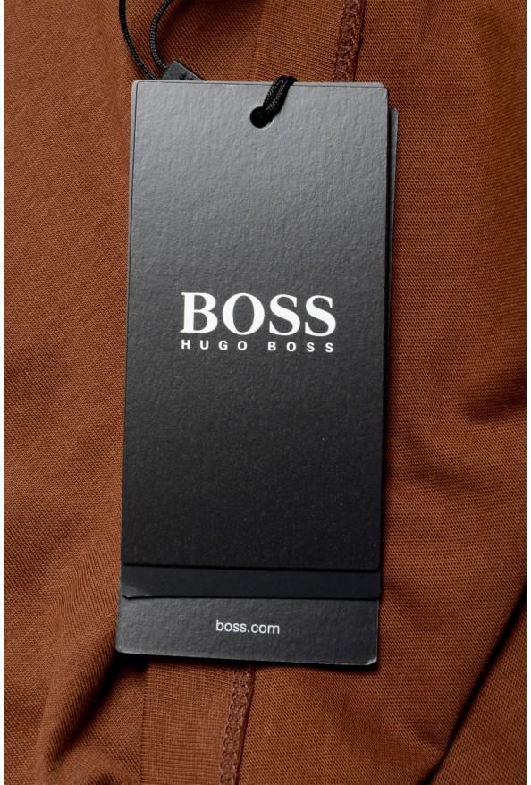 "Hugo Boss Men's ""Canistro 80"" Brown V-Neck T-Shirt: Picture 6"