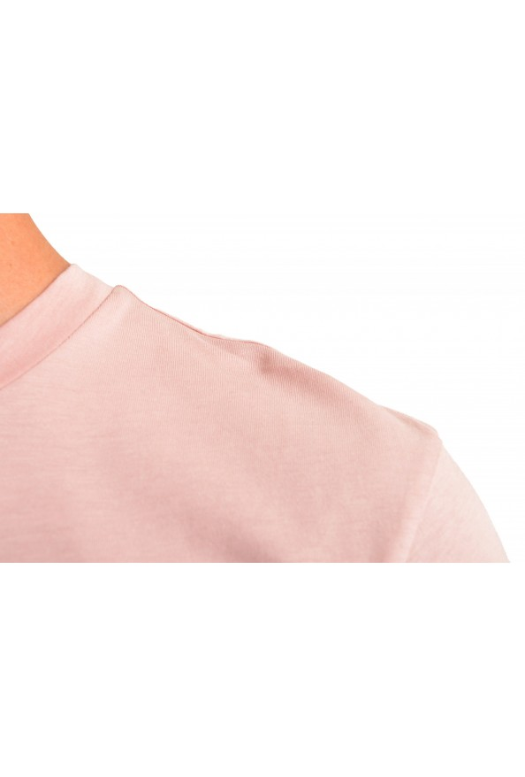 "Hugo Boss Men's ""Teally"" Pink Graphic Print Crewneck T-Shirt: Picture 4"