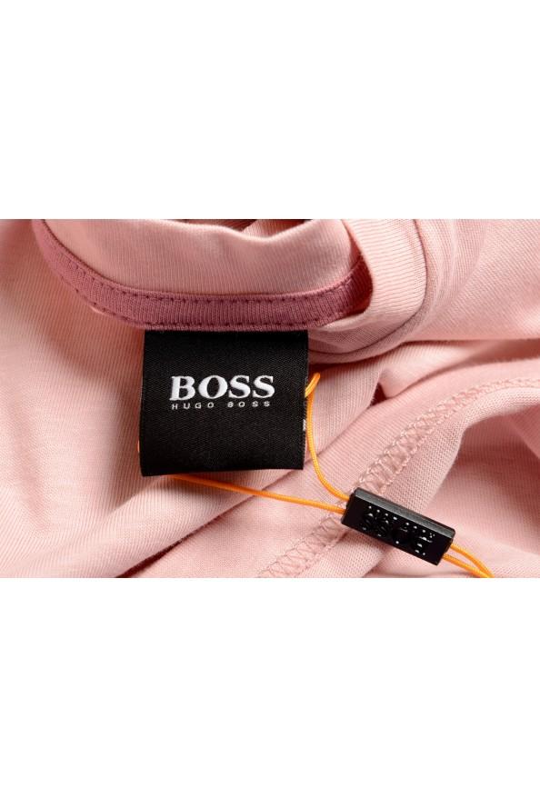 "Hugo Boss Men's ""Teally"" Pink Graphic Print Crewneck T-Shirt: Picture 5"