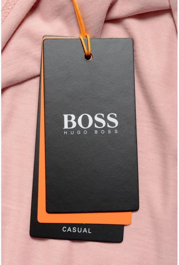 "Hugo Boss Men's ""Teally"" Pink Graphic Print Crewneck T-Shirt: Picture 6"