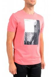 "Hugo Boss Men's ""Tee 9"" Pink Graphic Print Crewneck T-Shirt : Picture 2"