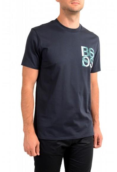 "Hugo Boss Men's ""Tiburt 209"" Blue Graphic Print Crewneck T-Shirt: Picture 2"