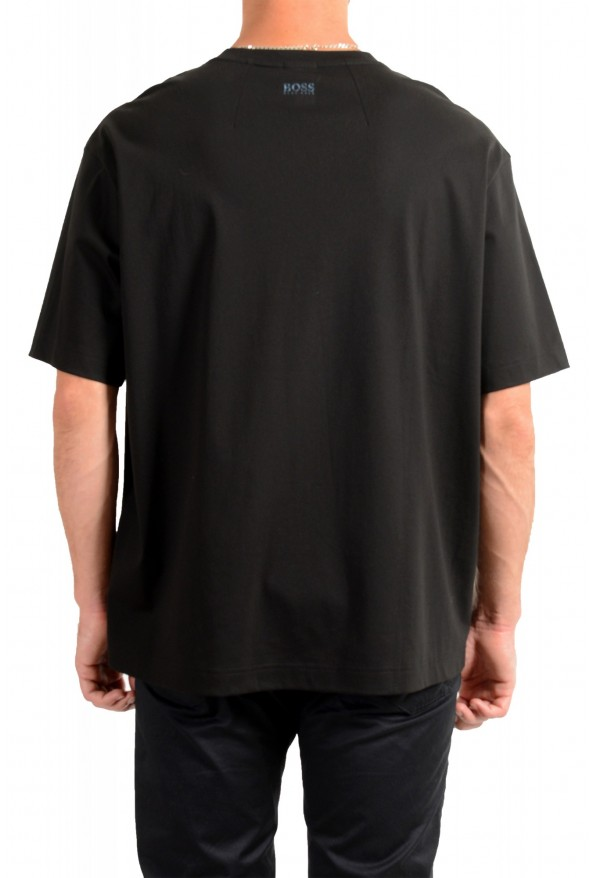 "Hugo Boss Men's ""Tover"" Oversized Fit Black Crewneck T-Shirt : Picture 3"