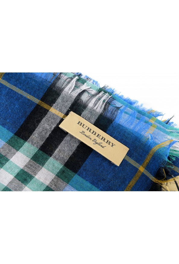 Burberry Unisex Multi-Color Plaid Wool Shawl Scarf: Picture 4