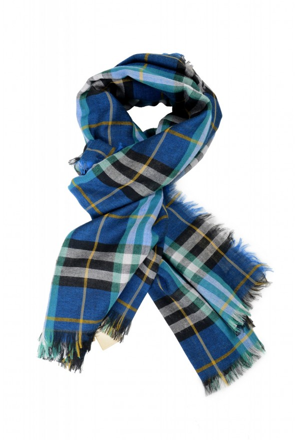 Burberry Unisex Multi-Color Plaid Wool Shawl Scarf: Picture 5