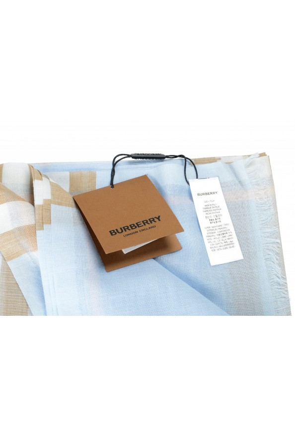 Burberry Unisex Multi-Color Plaid Wool Silk Shawl Scarf: Picture 3