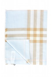 Burberry Unisex Multi-Color Plaid Wool Silk Shawl Scarf