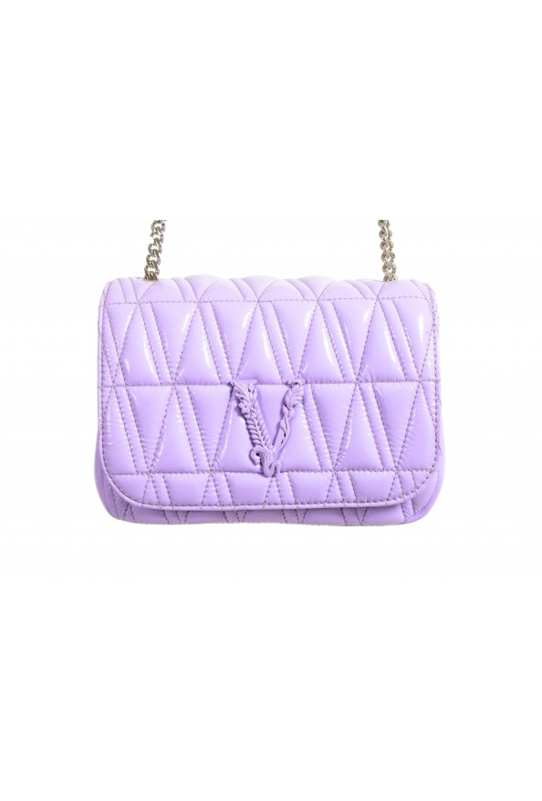 Versace Women's Purple Virtus Quilted Leather Evening Bag: Picture 2