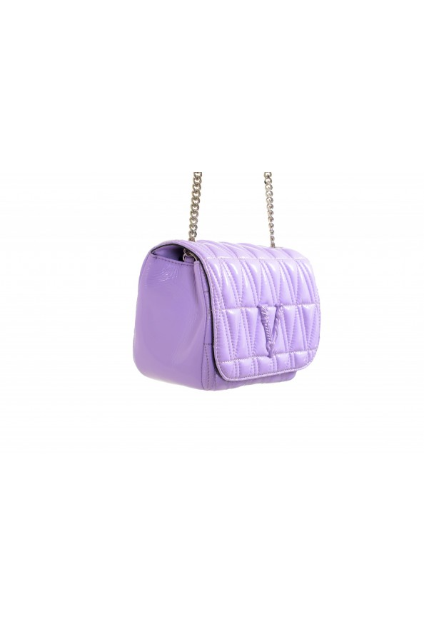 Versace Women's Purple Virtus Quilted Leather Evening Bag: Picture 3
