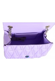 Versace Women's Purple Virtus Quilted Leather Evening Bag: Picture 5