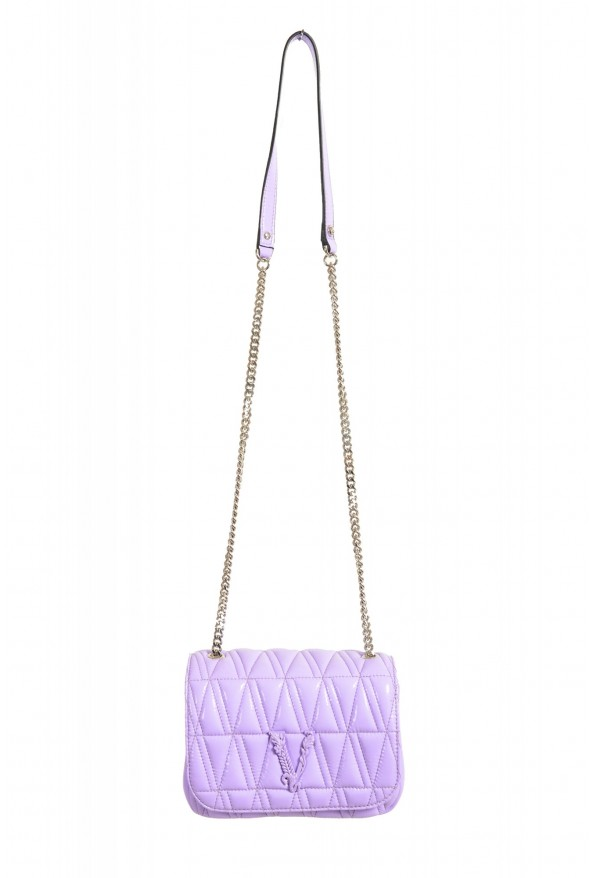 Versace Women's Purple Virtus Quilted Leather Evening Bag