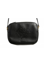 Versace Women's Black Medusa Textured Leather Crossbody Bag: Picture 2