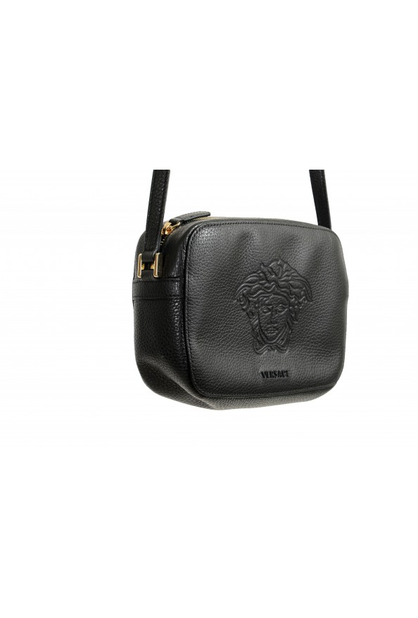 Versace Women's Black Medusa Textured Leather Crossbody Bag: Picture 3