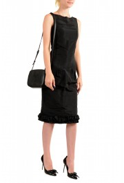 Versace Women's Black Medusa Textured Leather Crossbody Bag: Picture 6