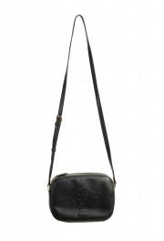 Versace Women's Black Medusa Textured Leather Crossbody Bag