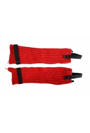 Moncler Women's Red Wool Knitted Leg Warmers: Picture 2