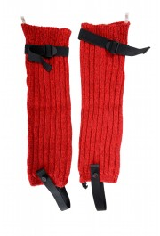 Moncler Women's Red Wool Knitted Leg Warmers: Picture 3