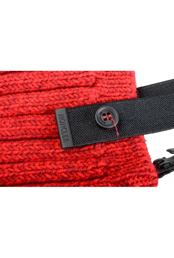 Moncler Women's Red Wool Knitted Leg Warmers: Picture 4