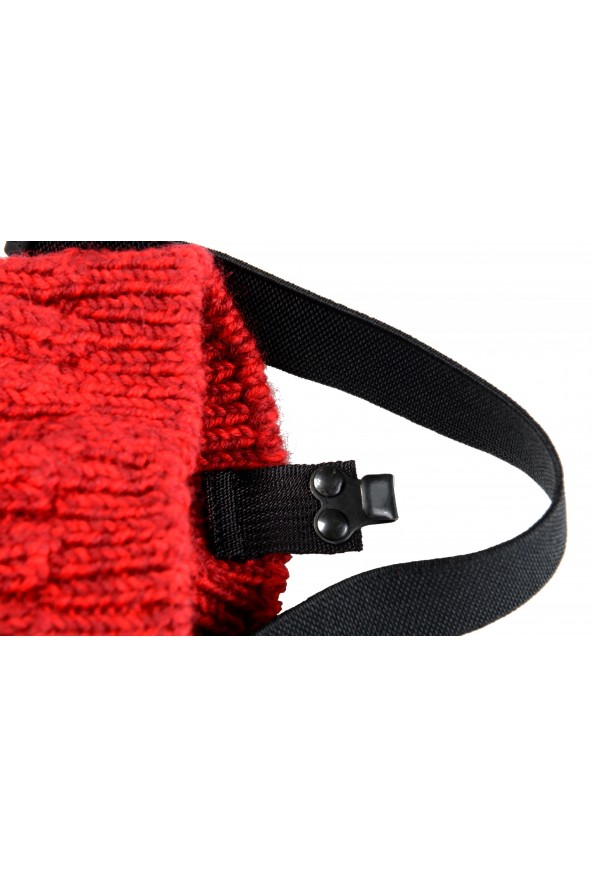 Moncler Women's Red Wool Knitted Leg Warmers: Picture 5