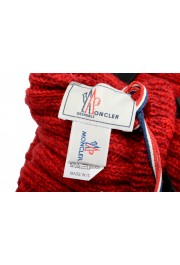 Moncler Women's Red Wool Knitted Leg Warmers: Picture 6