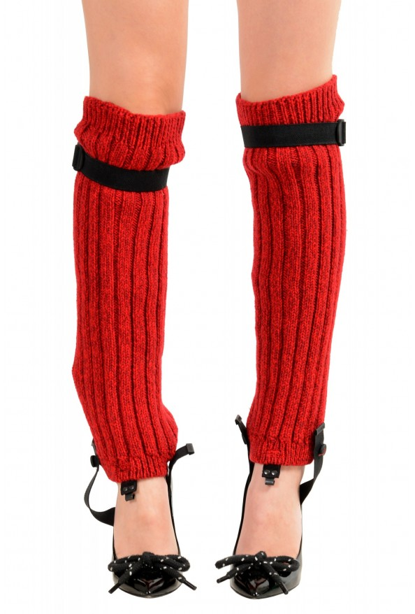 Moncler Women's Red Wool Knitted Leg Warmers: Picture 7