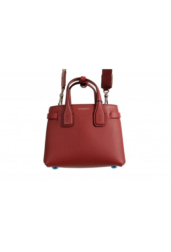 """Burberry Women's """"Baby Banner"""" Red Textured Leather Handbag Bag: Picture 2"""