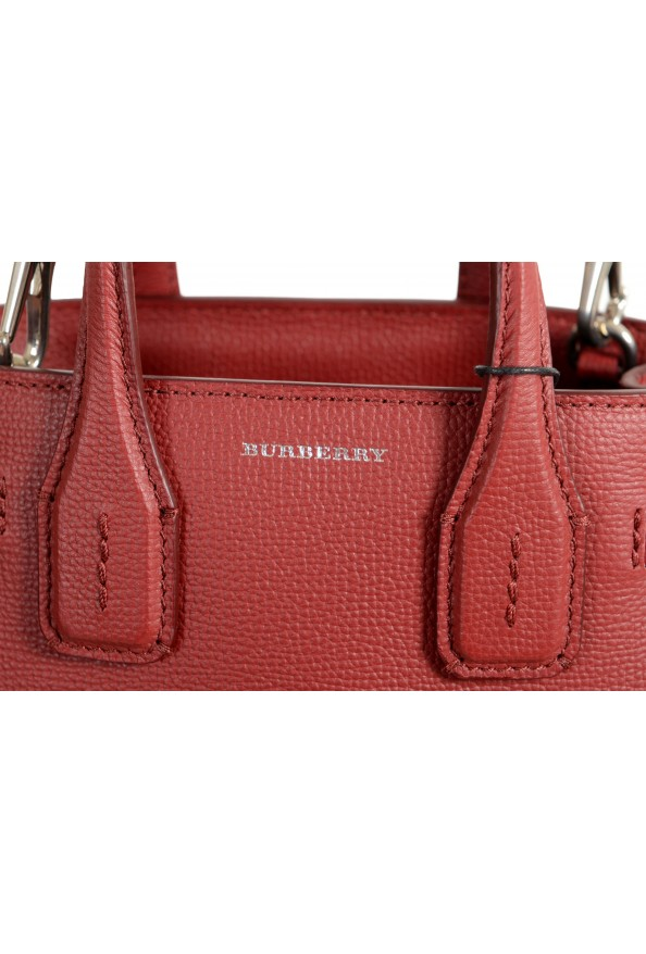 """Burberry Women's """"Baby Banner"""" Red Textured Leather Handbag Bag: Picture 3"""