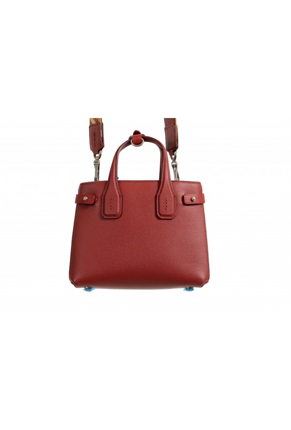 """Burberry Women's """"Baby Banner"""" Red Textured Leather Handbag Bag: Picture 5"""