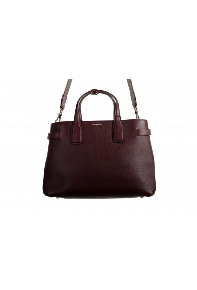 "Burberry Women's ""MD Banner"" Purple Textured Leather Satchel Handbag Bag: Picture 2"