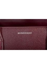 "Burberry Women's ""MD Banner"" Purple Textured Leather Satchel Handbag Bag: Picture 4"